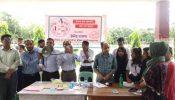 শ্রীমঙ্গলে প্রায় তিনশ শিক্ষার্থীদের বিনামূল্যে রক্তের গ্রুপ নির্ণয় করলো উদ্দীপ্ত তারুণ্য