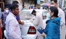 মাস্ক না পরায় ঢাকায় ১০০ জনকে ৩৩ হাজার টাকা জরিমানা