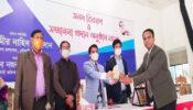 শ্রীমঙ্গলে 'আমার ঘরে আমার স্কুলের অনলাইন  ক্লাস নেওয়া শিক্ষকদের  সম্মাননা প্রদান