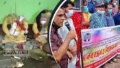 হিন্দু সম্প্রদায়ের উপর হামলা ও মন্দির ভাংচুরের প্রতিবাদে শ্রীমঙ্গলে মানববন্ধন
